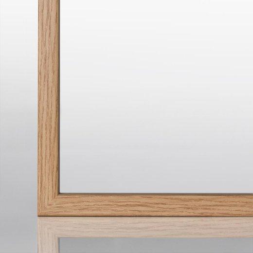 Schmaler Bilderrahmen in Eiche (Natur) mit Acrylglas