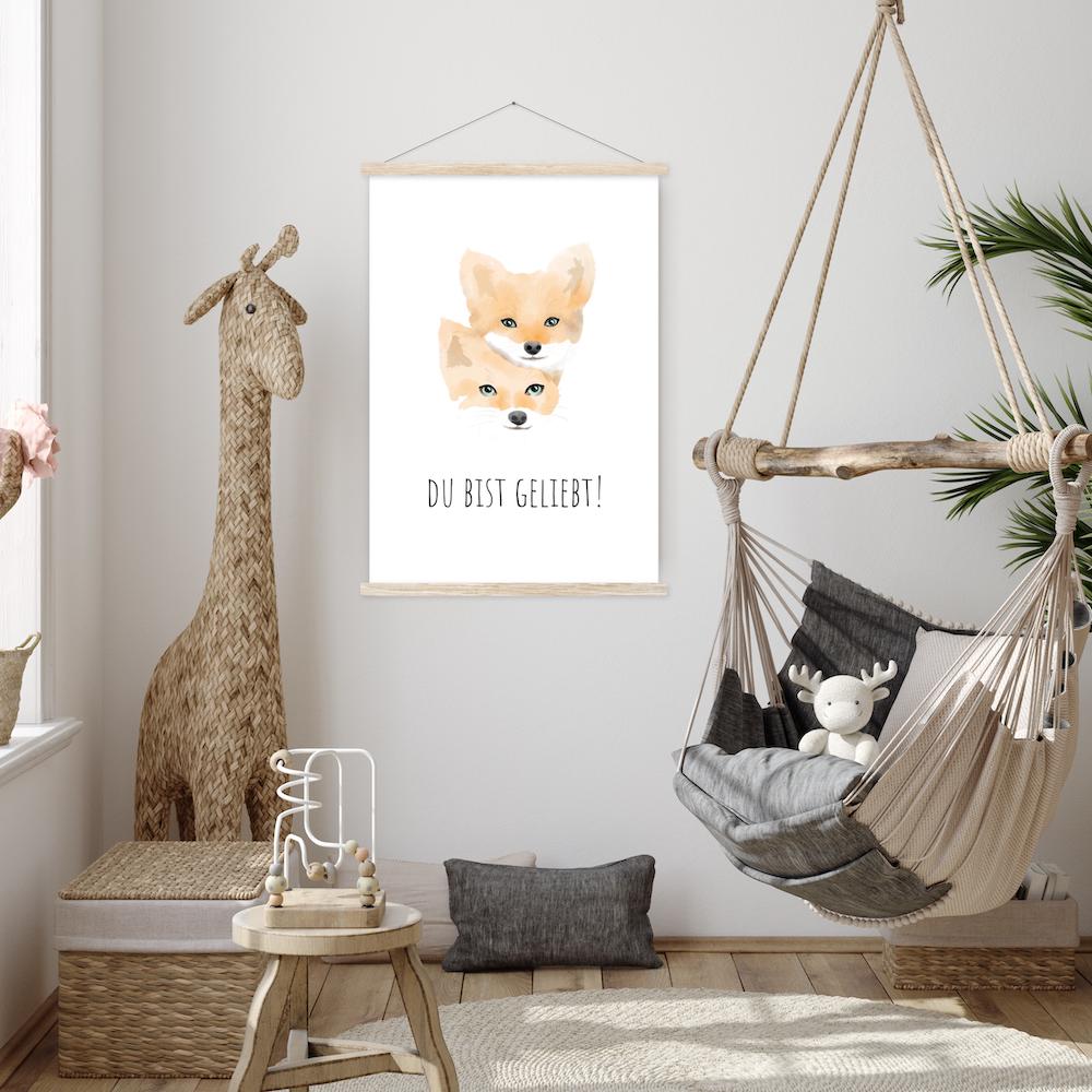 Tierposter Füchse - Du bist geliebt!