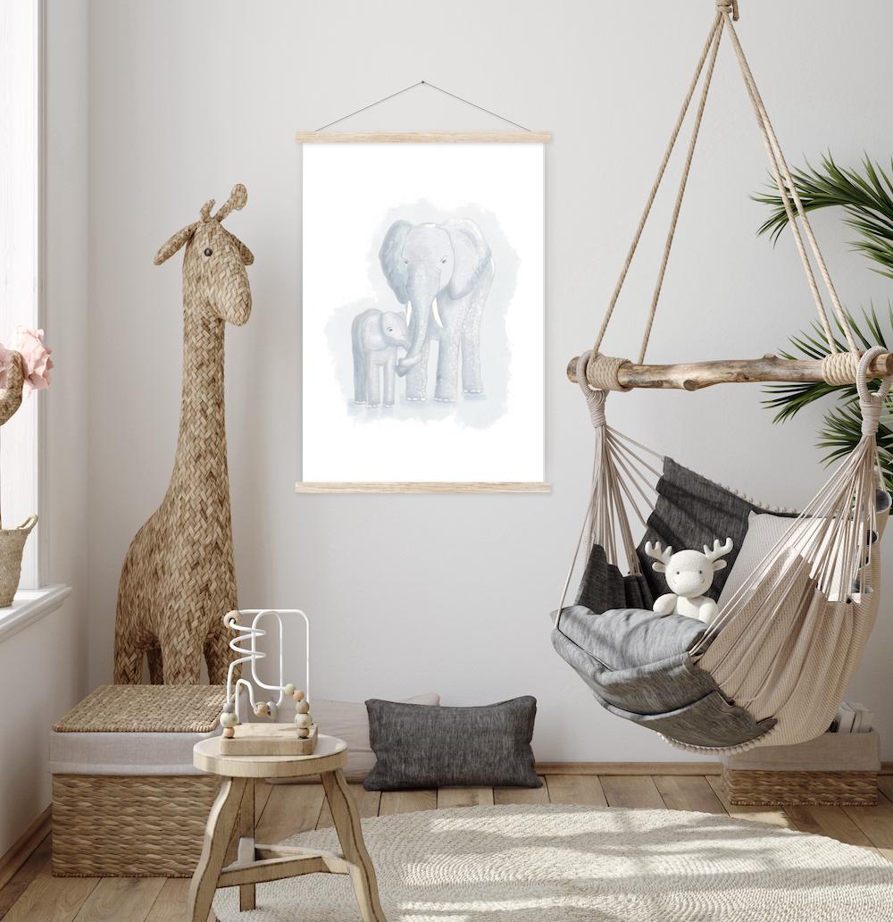 Tierposter Elefanten - Du bist wertvoll!