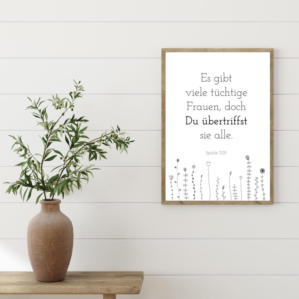 Poster Du übertriffst sie alle - Sprüche 31,29