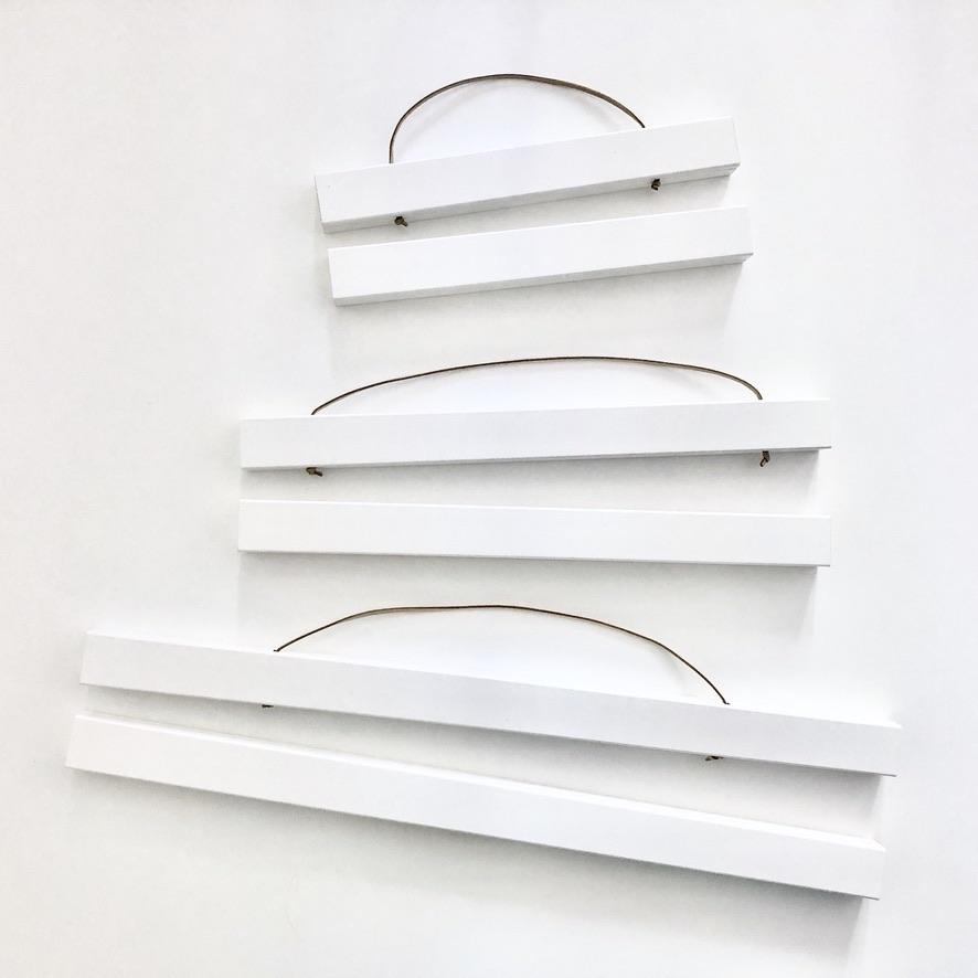 Posterleiste in Weiß