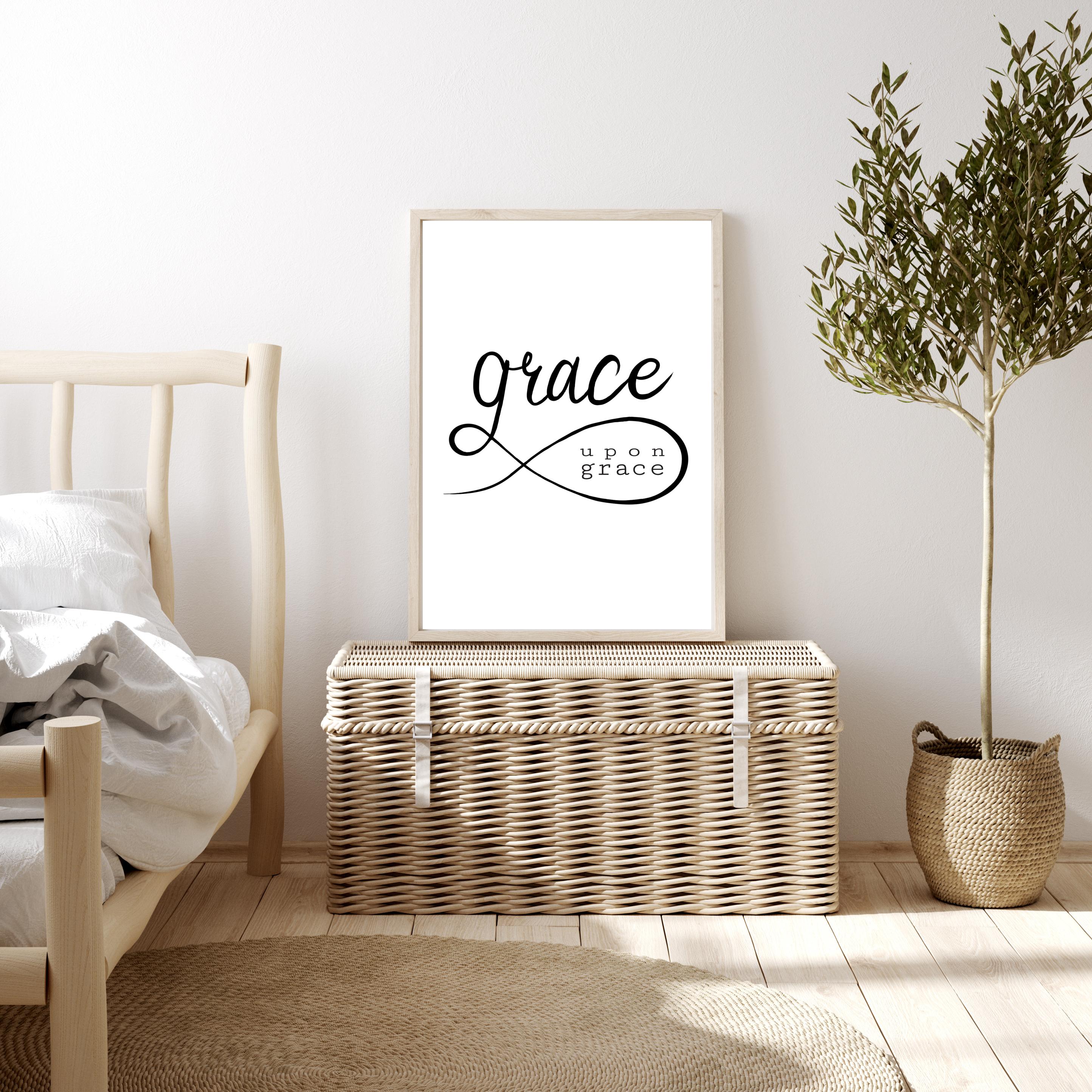 Poster Grace upon Grace - Johannes 1,16