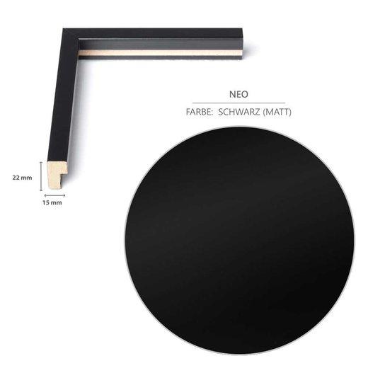 Schmaler Bilderrahmen(A2) in Schwarz (matt) mit Acrylglas